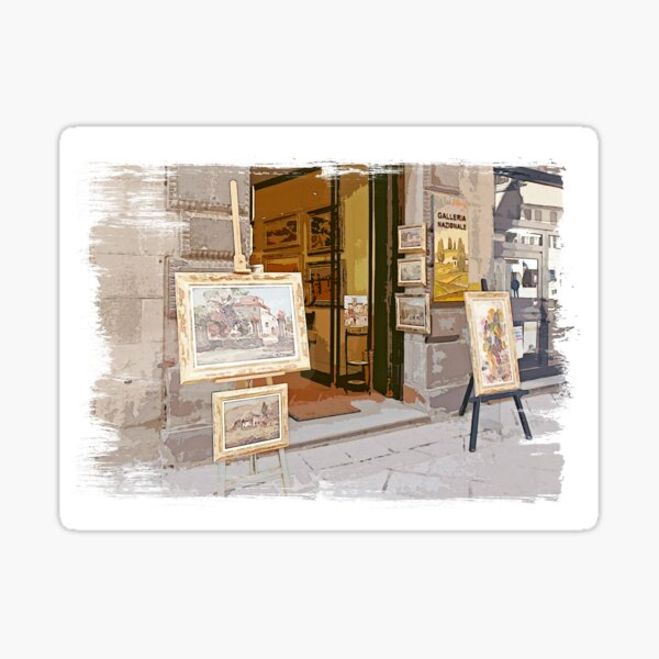 Tuscany. Italy. Cortona.  Art Gallery Sticker