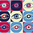 Eyes, digital pattern by RosiLorz