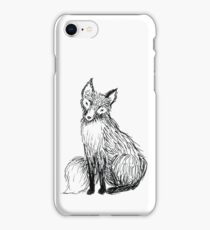Cute little ink fox iPhone Case/Skin