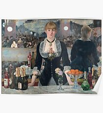Edouard Manet - A Bar At The Folies-Bergere Poster