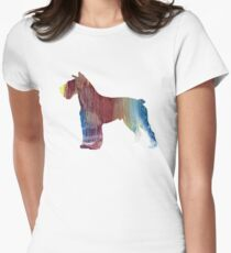 Schnauzer  Womens Fitted T-Shirt