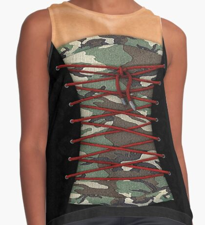 Camouflage corsage Contrast Tank