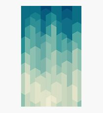 green abstract shapes Photographic Print