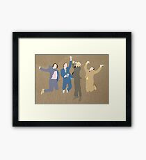 The Channel 4 news team Framed Print