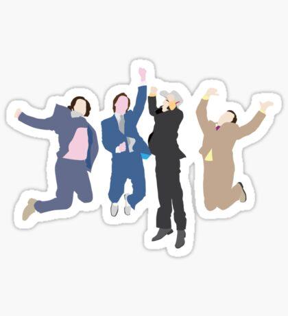 The Channel 4 news team Sticker