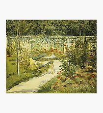 Edouard Manet - The Bench, The Garden At Versailles Photographic Print