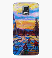 CANADIAN LANDSCAPE HOCKEY ART PAINTINGS WINTER SCENES OF CANADA CAROLE SPANDAU Case/Skin for Samsung Galaxy