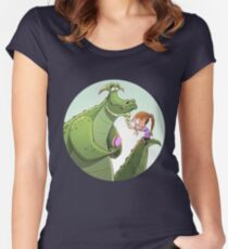 Dragon plait Women's Fitted Scoop T-Shirt