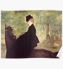 Edouard Manet - The Horsewoman Poster