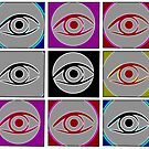 Eyes, digital pattern abstract by RosiLorz