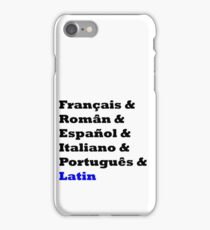 Romance Languages iPhone Case/Skin