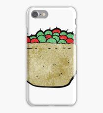 cartoon basket of apples iPhone Case/Skin
