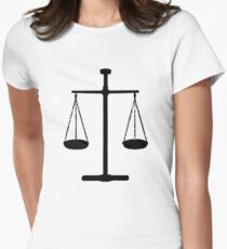 Scales of justice Womens Fitted T-Shirt