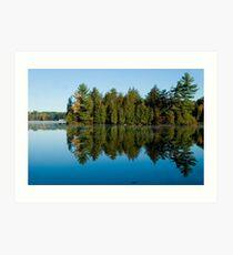 Lake with Trees Art Print