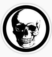 BLACK CIRCLE SKULL Sticker