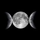 Triple Moon by lizart-designs