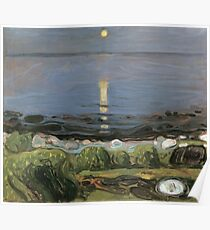Edvard Munch - Summer Night By The Beach Poster