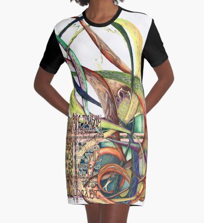 Life Journey Graphic T-Shirt Dress