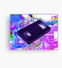VHS GLITCH VAPORWAVE Canvas Print