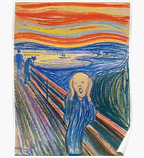 Edvard Munch - The Scream Pastel Poster