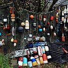 Lobster Buoys at Rockport Mass by DHParsons