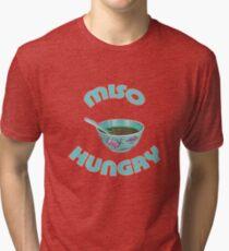Miso Hungry Food Pun Tri-blend T-Shirt