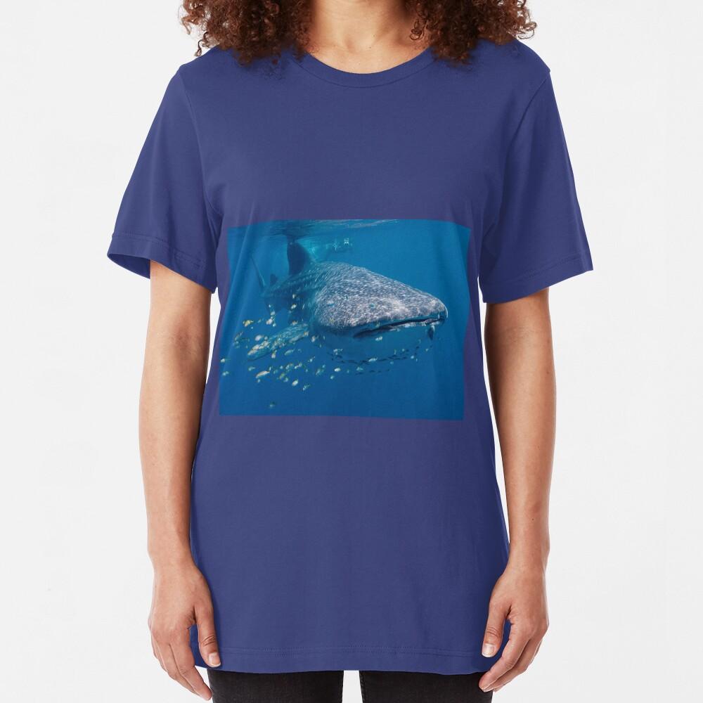 Whale Shark, Ningaloo Reef, Western Australia Slim Fit T-Shirt
