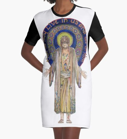 Life in Christ Graphic T-Shirt Dress