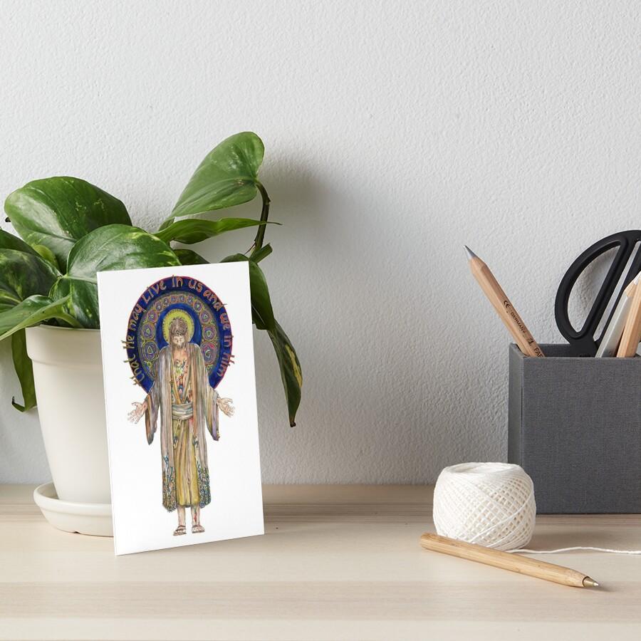 Life in Christ Art Board Print