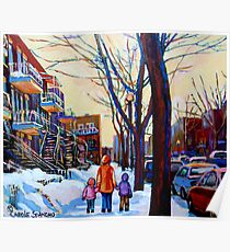 FAMOUS CANADIAN PAINTINGS OF URBAN LIFE BY CANADIAN ARTIST CAROLE SPANDAU Poster