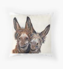 Donkeys - Hee Haw Throw Pillow