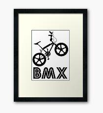 BMX Silhouette (Black) Framed Print