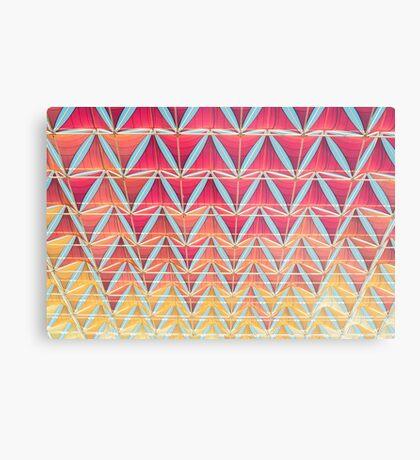 Vom rosa zum gelben Muster Metallbild