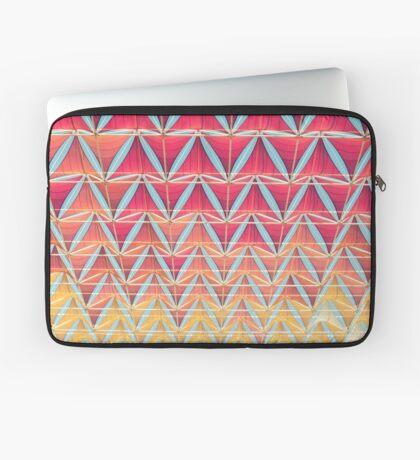 Vom rosa zum gelben Muster Laptoptasche