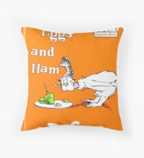 Green Eggs and Ham by Dr Suess Throw Pillow