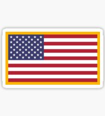 Police American Flag Patch Sticker