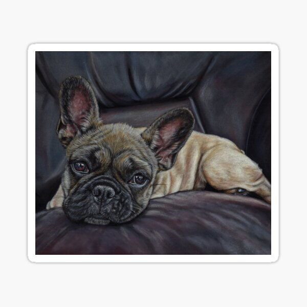 French Bulldog Art Sticker