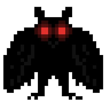 Pixel Mothman by systemprimary