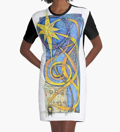 Love Come Down Graphic T-Shirt Dress