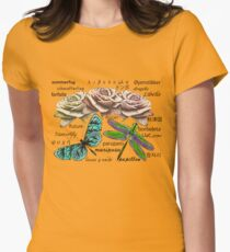 Butterfly, Dragonfly, Roses and Words T-Shirt