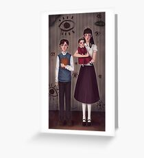 A Series of Unfortunate Events ~The Baudelaires Orphans ! Greeting Card
