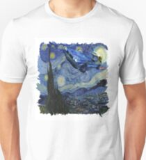 Starry Night Delorean Unisex T-Shirt