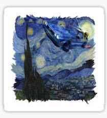 Starry Night Delorean Sticker