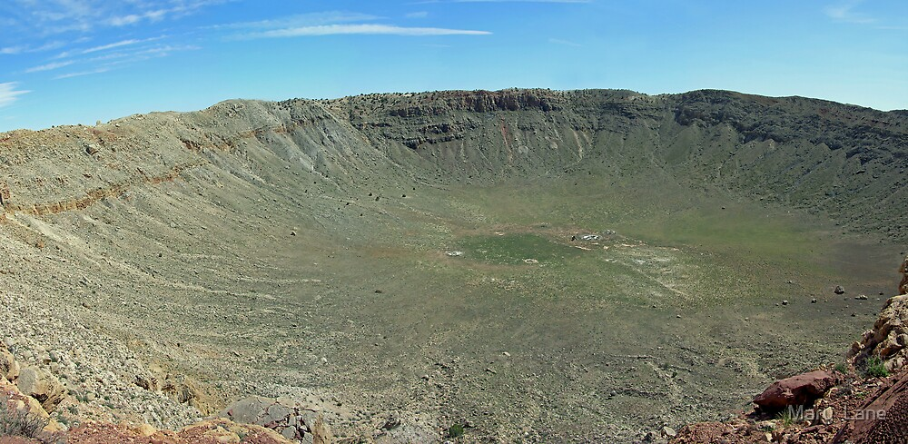 Barringer Meteor Crater by Mary  Lane