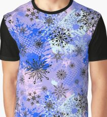 Snow on Blue Graphic T-Shirt