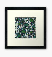 Green Floral Framed Print