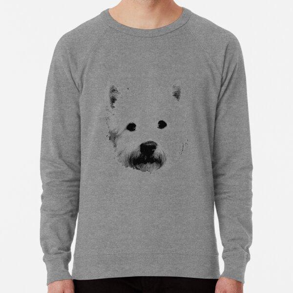 West Highland White Terrier Westie Digital Engraving Lightweight Sweatshirt