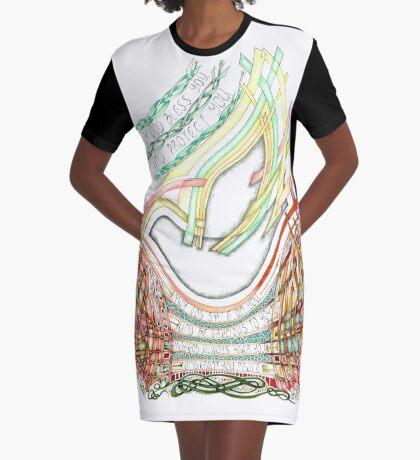 May God Smile Graphic T-Shirt Dress