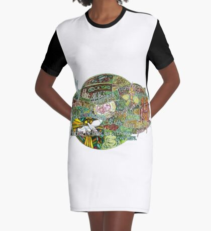 May the Grace Graphic T-Shirt Dress