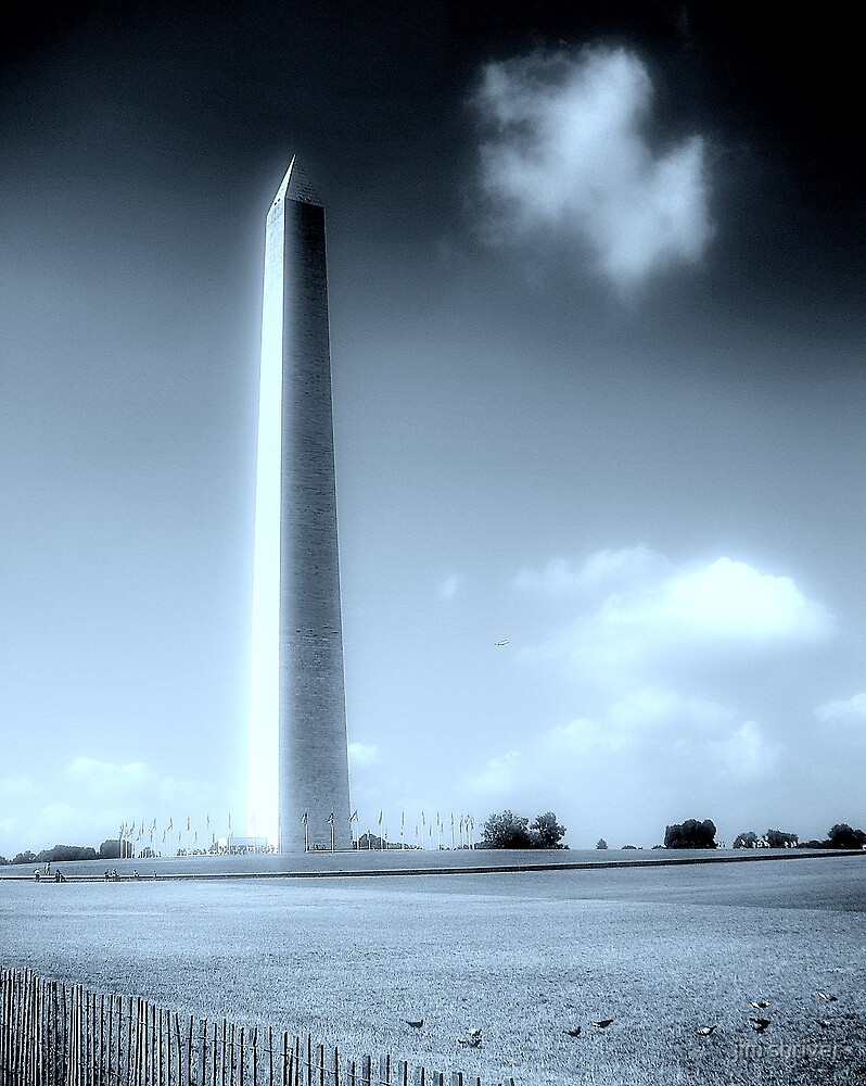 Washington Monument in June by jim shriver
